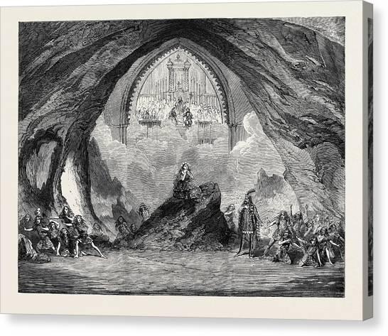 Garden Scene Canvas Print - The Last Scene From The New Opera Of Satanella At Covent by English School