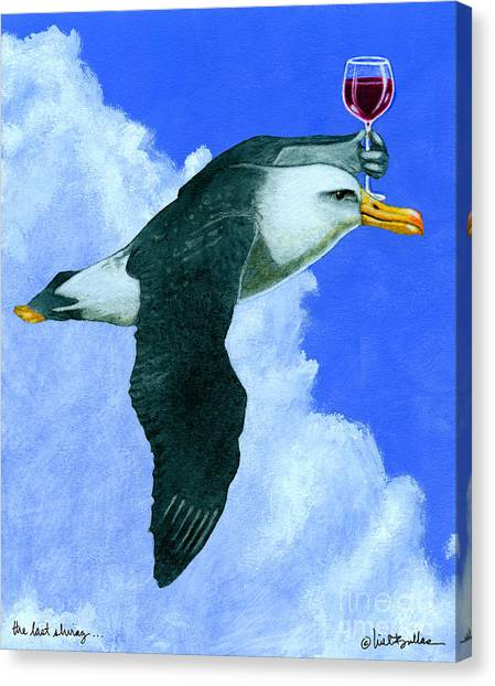 Albatrosses Canvas Print - the last Shiraz... by Will Bullas