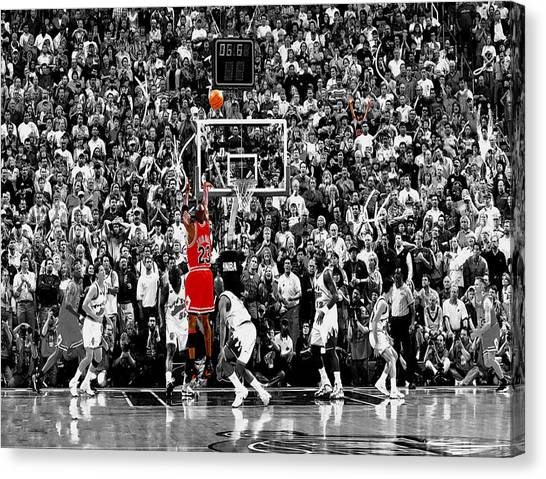 Utah Jazz Canvas Print - The Last Shot 1 by Brian Reaves