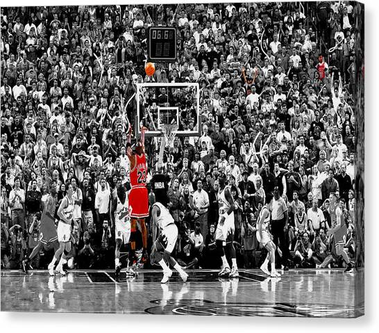 Utah Jazz Canvas Print - The Last Shot 2 by Brian Reaves