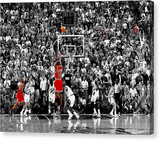 Utah Jazz Canvas Print - The Last Shot 3 by Brian Reaves