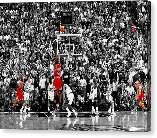 Utah Jazz Canvas Print - The Last Shot 4 by Brian Reaves