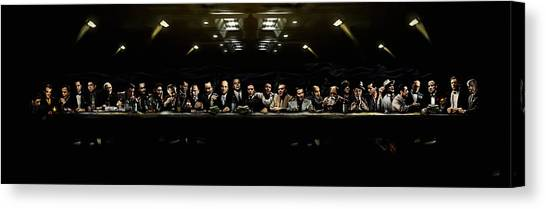 The Last Sit Down Canvas Print by Laurence Adamson