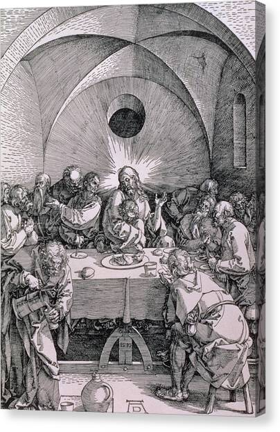 Vault Canvas Print - The Last Supper From The 'great Passion' Series by Albrecht Duerer