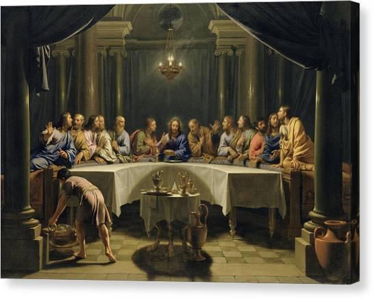 Messiah Canvas Print - The Last Supper by Jean Baptiste de Champaigne