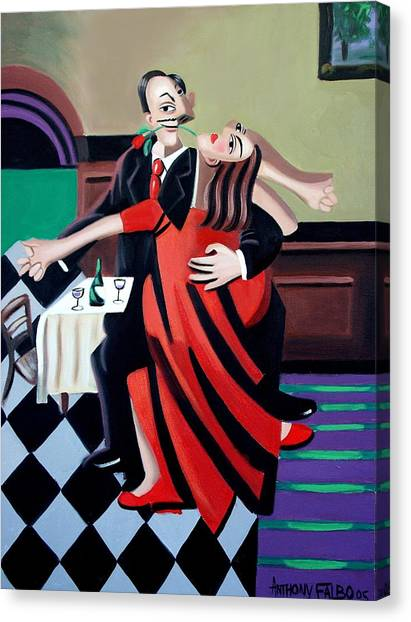 Tango Canvas Print - The Last Tango by Anthony Falbo