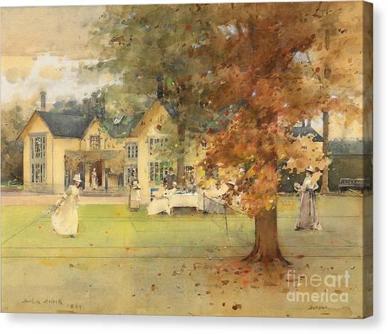 Victorian Garden Canvas Print - The Lawn Tennis Party by Arthur Melville
