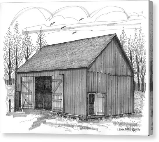The Lawrence Barn Canvas Print