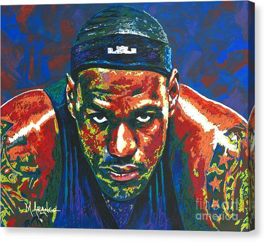 The Lebron Death Stare Canvas Print