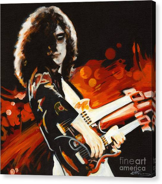 Stairway To Heaven. Jimmy Page  Canvas Print