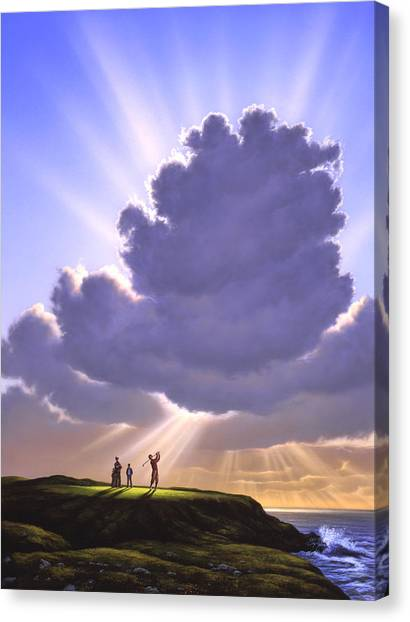 Golf Canvas Print - The Legend Of Bagger Vance by Jerry LoFaro