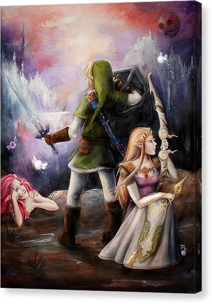 Zelda Canvas Print - The Legend Of Zelda by Brynn Elizabeth Hughes