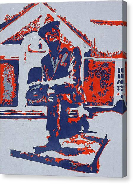 University Of Mississippi Ole Miss Canvas Print - The Legend by Steve Cochran