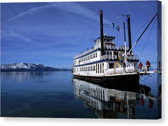 The Legendary Tahoe Queen Cruise Boat Canvas Print