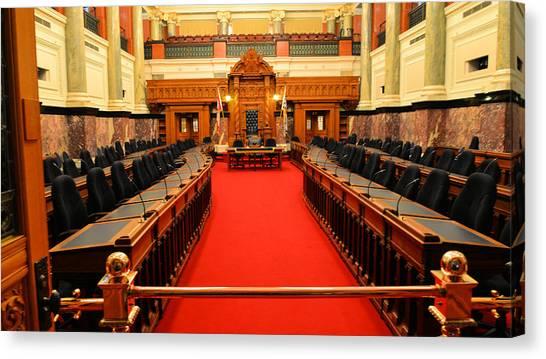 The Legislature Victoria Bc Canvas Print