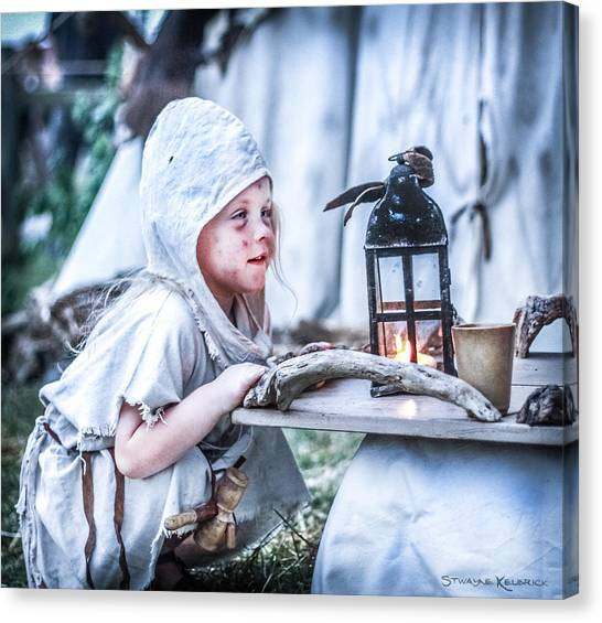 Canvas Print featuring the photograph The Leprosy Child And The Healing Lantern by Stwayne Keubrick