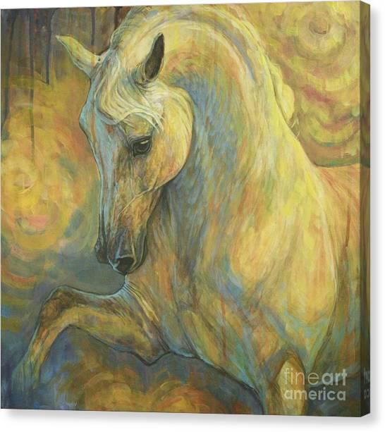 the Lesson Canvas Print by Silvana Gabudean Dobre