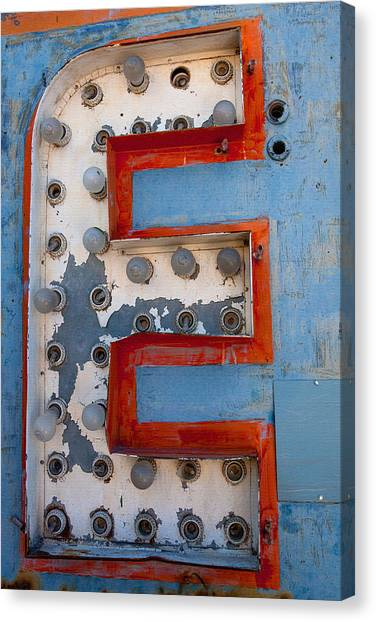 Rustic Canvas Print - The Letter E by Art Block Collections