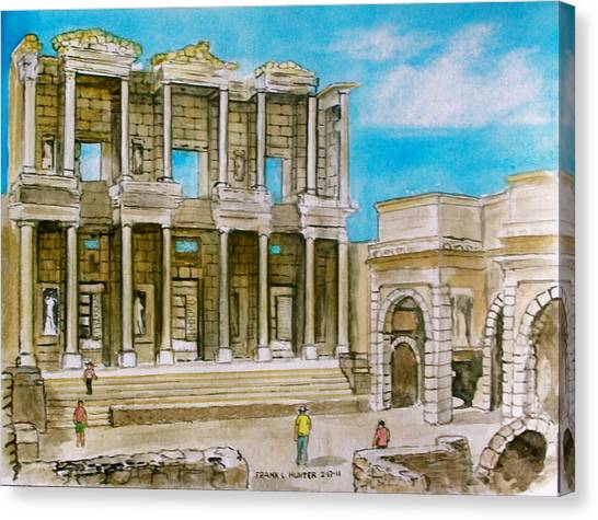 The Library At Ephesus Turkey Canvas Print