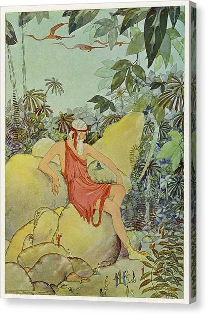 Pigmy Canvas Print - The Libyan Giant Antaeus  Impresses by Mary Evans Picture Library