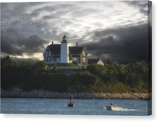 The Light At Nobska Point  Canvas Print