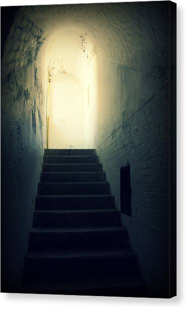 The Light At The Top Of The Stairs Canvas Print