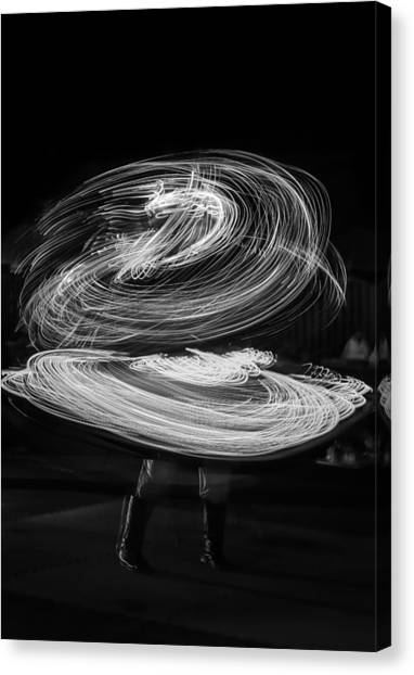 Lightshow Canvas Print - The Light Dancer by Ahmed Rashed