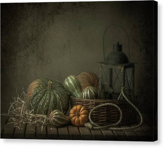 Pumpkins Canvas Print - The Light In The Barn by Margareth Perfoncio