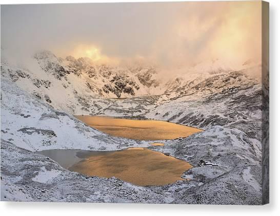 Alps Canvas Print - The Light by Krzysztof Mierzejewski