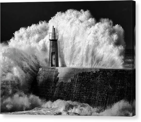 Storms Canvas Print - The Lighthouse by Alejandro Garcia Bernardo