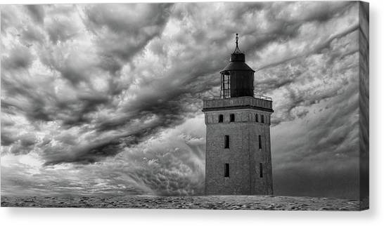 The Lighthouse Mood. Canvas Print by Leif L?ndal