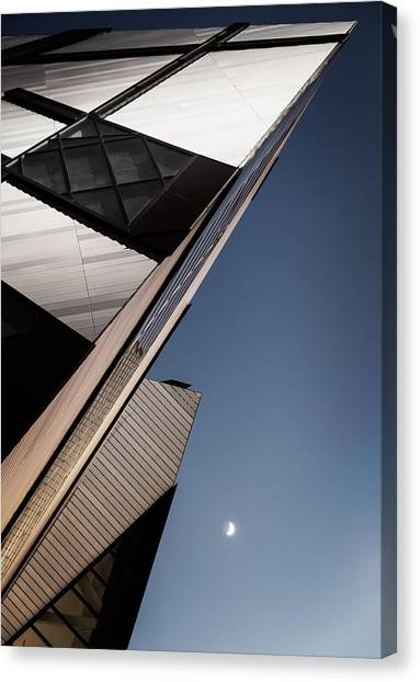 The Lightning Crystal And The Moon Canvas Print