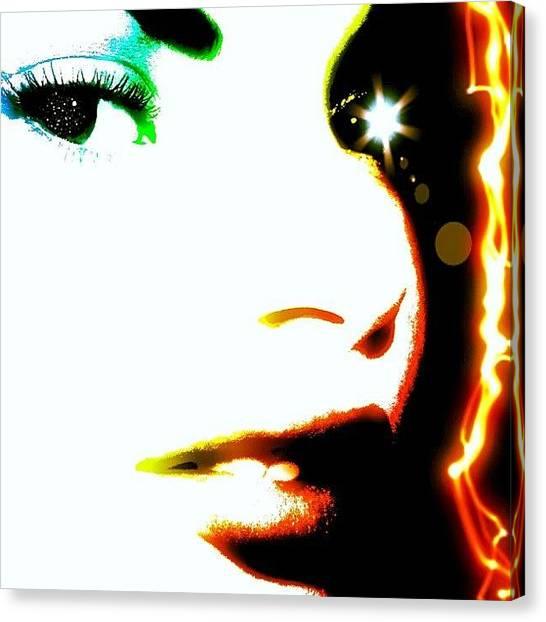 Scifi Canvas Print - The Lightning Queen by Urbane Alien