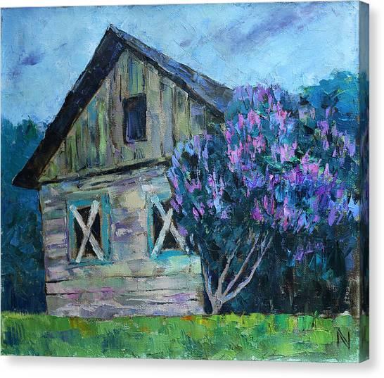 Dilapidation Canvas Print - The Lilac by Vladimir Naryzhny