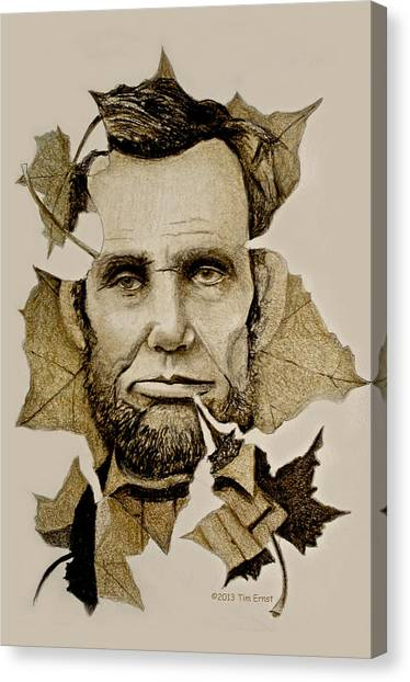 The Lincoln Leaf Canvas Print