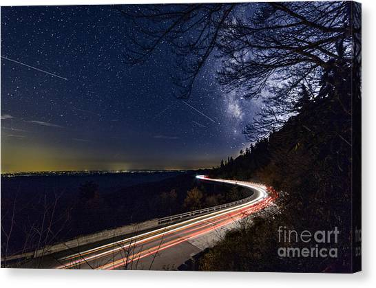 The Linn Cove Viaduct Milky Way Canvas Print