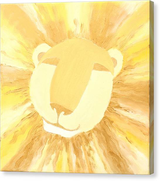 The Lion A Canvas Print by Sandra Yegiazaryan