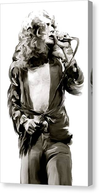 Robert Plant Canvas Print - The Lion  Robert Plant by Iconic Images Art Gallery David Pucciarelli