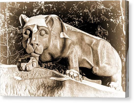 Pennsylvania State University Canvas Print - The Lion Shrine by Rusty Glessner