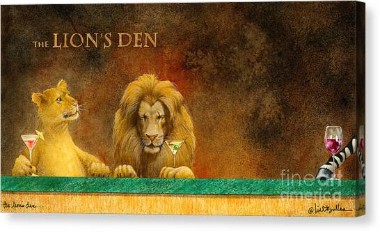 The Lion's Den... Canvas Print