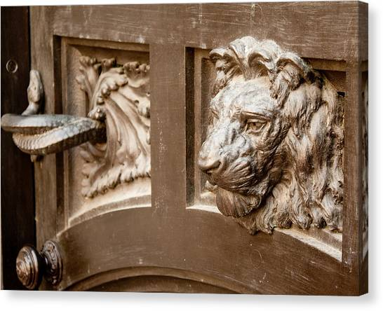 The Lion's Head Door Canvas Print