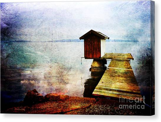 The Little Bath House Canvas Print