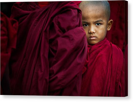 Monks Canvas Print - The Little Boy by Sugianto