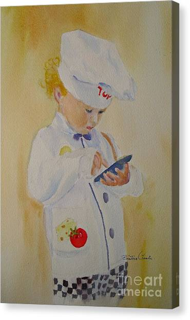 The Little Chef Canvas Print