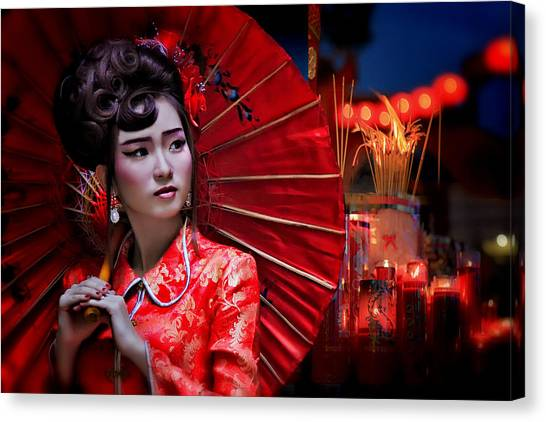 China Canvas Print - The Little Girl From China by Joey Bangun