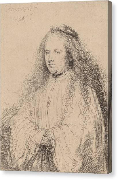 Baroque Canvas Print - The Little Jewish Bride by Rembrandt