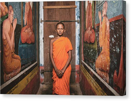 Monks Canvas Print - The Little Monk by Giacomo Bruno