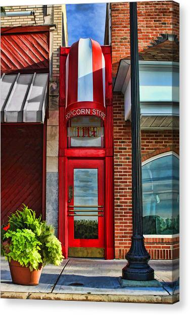 The Little Popcorn Shop In Wheaton Canvas Print