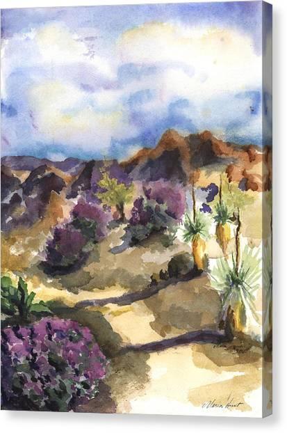 Texas Rangers Canvas Print - The Living Desert by Maria Hunt