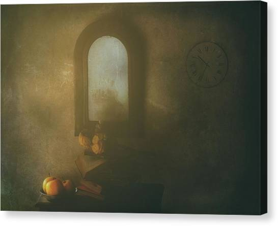 The Living Room Canvas Print by Delphine Devos